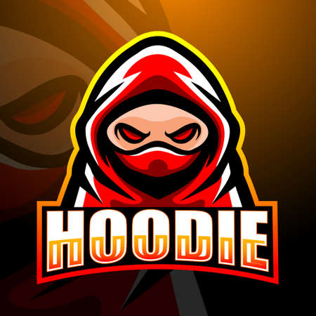 Vector illustration of Hooded man mascot esport logo design