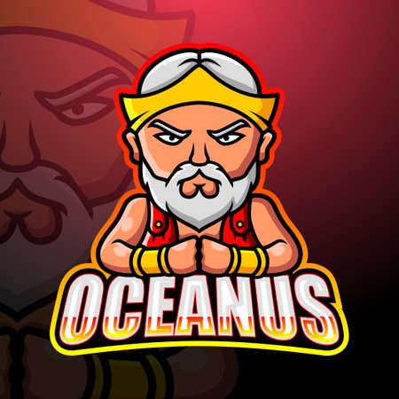 Oceanus mascot esport logo design