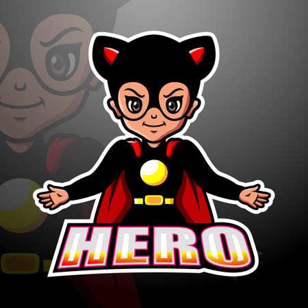 Superhero mascot esport logo design