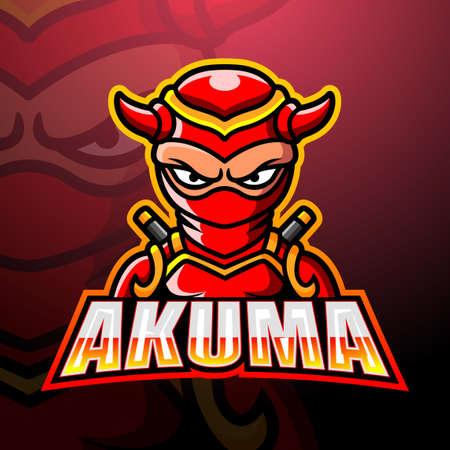 Akuma mascot esport logo design Çizim