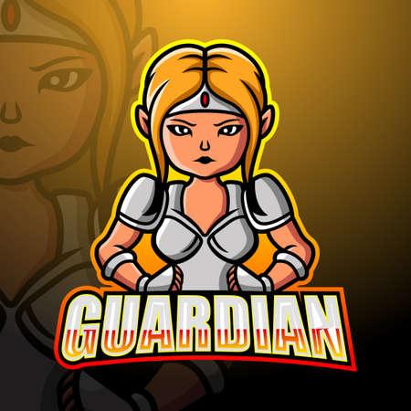 Guardian mascot esport logo design