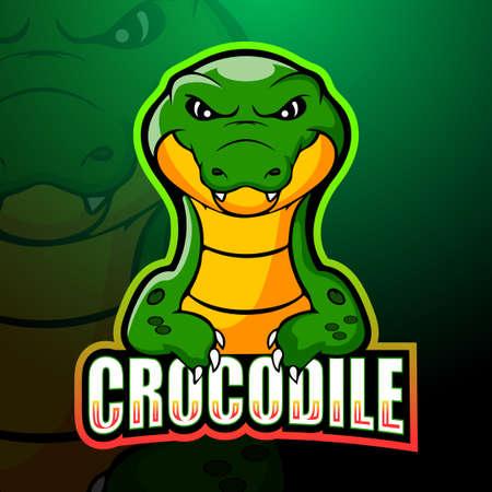 Crocodile mascot esport logo design