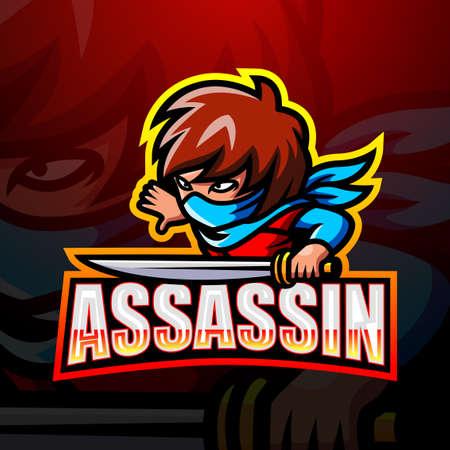 Assassin mascot esport logo design