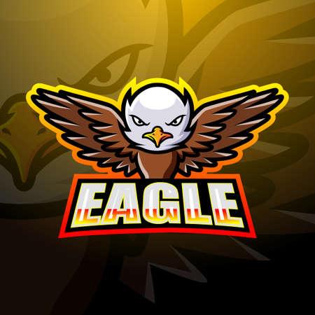 Eagle mascot esport logo design Çizim