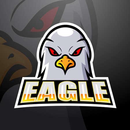 Eagle head mascot esport logo design