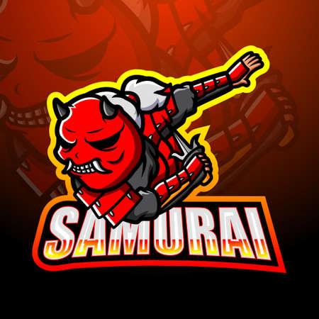 Samurai mascot esport design