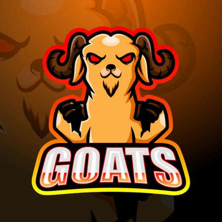 Goat mascot esport design Çizim