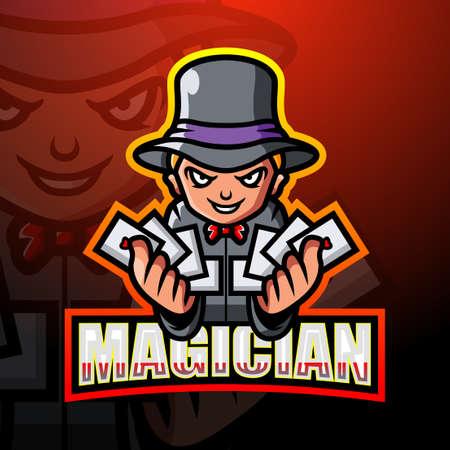Magician mascot esport design Çizim