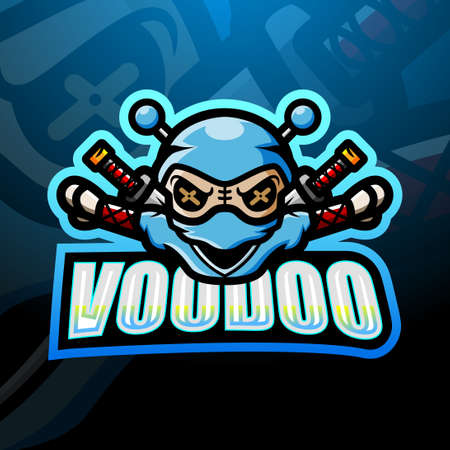 Voodoo mascot esport design Çizim