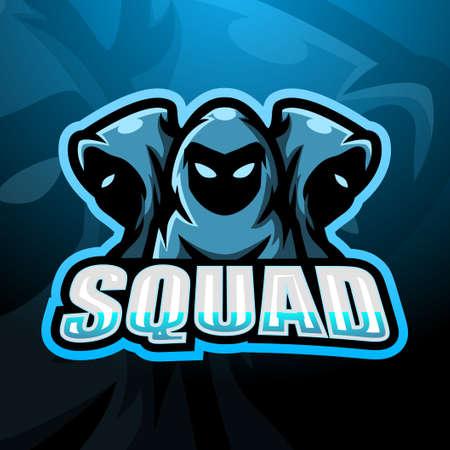 3 ninja squad esport logo design