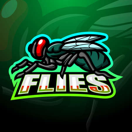 Fly mascot esport logo design
