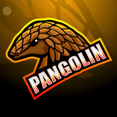 Pangolin mascot esport logo design