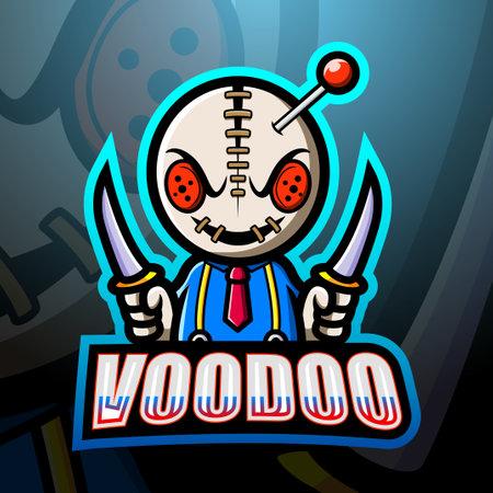 Voodoo mascot esport logo design