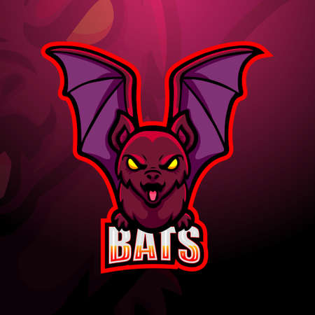 Bat mascot esport logo design