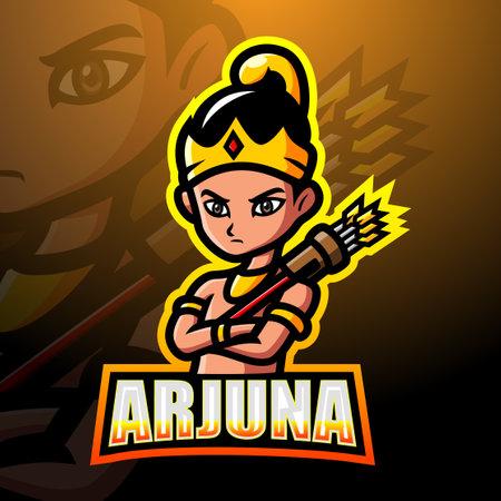 Arjuna mascot Ilustración de vector