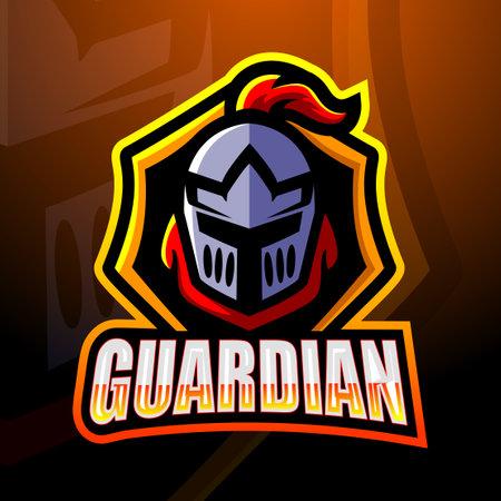 Guardian head mascot Vecteurs