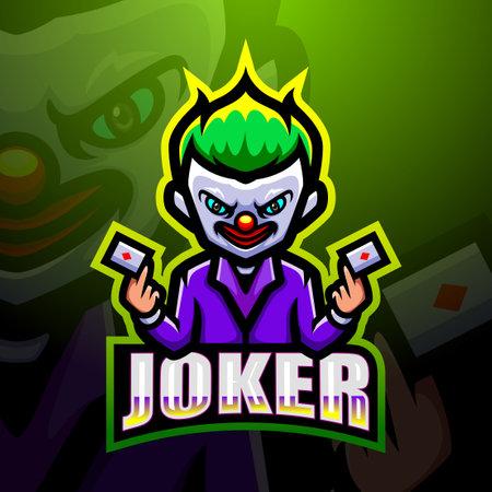 Joker mascot Vektorové ilustrace