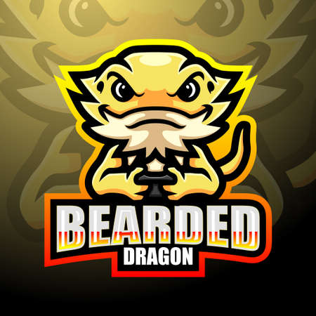 Bearded dragon esport logo mascot