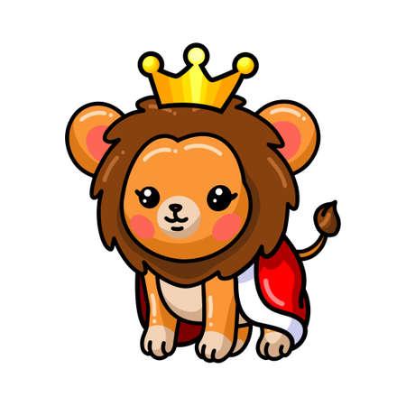 Cute baby lion king cartoon