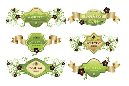 Collection of design labels. Easy to edit vector image.