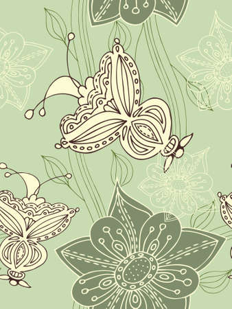 romantic: Seamless flower background. Easy to edit vector image.