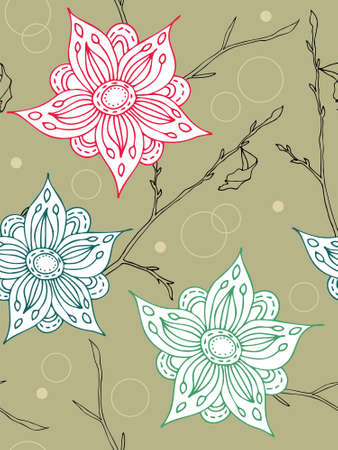 Seamless flower background. Easy to edit vector image.