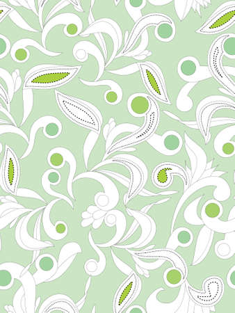 Seamless background with abstract floral elements. Easy to edit vector image. Ready to use as swatch. Illustration