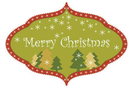 Christmas design frame.