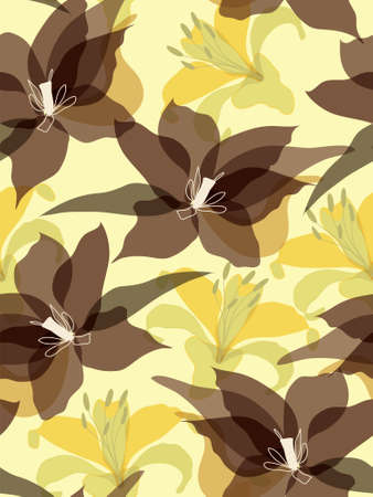 Seamless flower background.  Stock Photo
