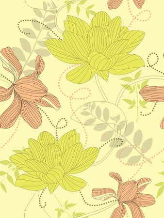 Seamless flower background Stock Photo