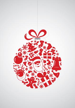 public celebratory event: Christmas Icon Bauble Illustration