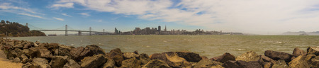 giants: A view of the San Francisco Skyline. Stock Photo