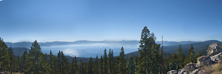 Beautiful morning view of Lake Tahoe.