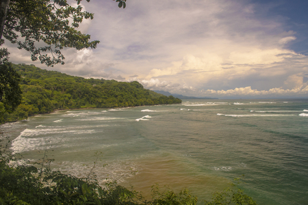 A view of the beautiful coastline of the southern zone of Costa Rica.