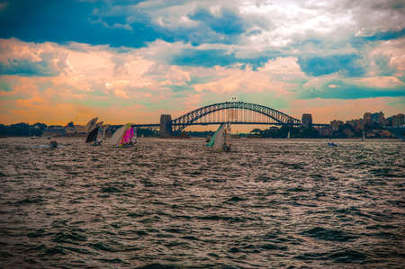 Harbour Bridge and boats photo