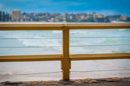 Fences on the beach photo