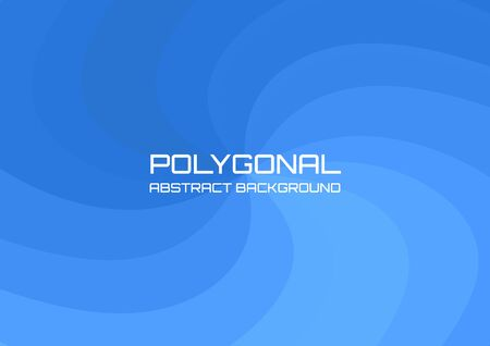 Blue spiral wave polygonal background and gradient, vector illustration suitable for cover poster or backdrop. Ilustrace