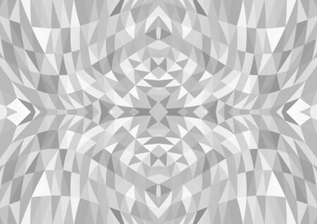 Light gray polygonal mosaic pattern background and gradient. Vector illustration suitable for cover poster or backdrop.