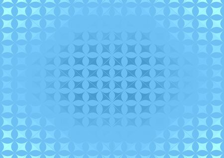 Light blue polygonal abstract made of flowers background and gradient, dark in the center. Vector illustration suitable for cover poster or backdrop. Ilustrace