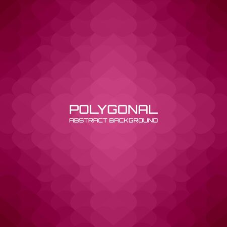 Red burgundy heart polygonal background and gradient, vector illustration suitable for valentines day.
