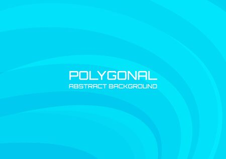 Blue waves polygonal background and gradient, suitable for cover poster or backdrop.
