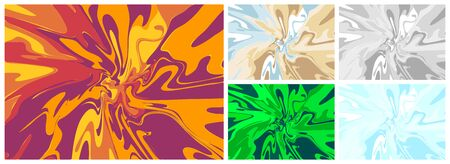 A set of backgrounds from spilled multi-colored paint of different colors in the form of an explosion, splash. The background is suitable for poster design.