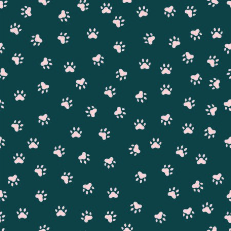 Seamless pattern with cute cat paws