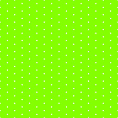 Green seamless pattern with polka dots Çizim