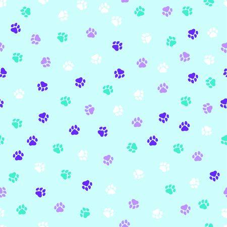 Seamless pattern with dog paws