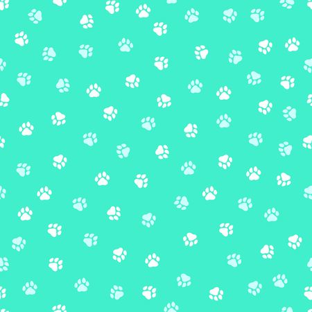 Seamless pattern with cute dog paws