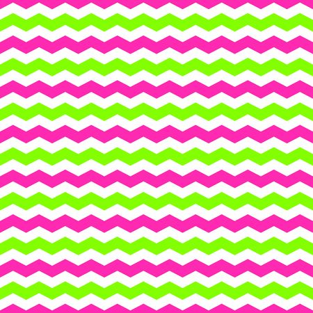 Seamless pattern with green and pink chevron