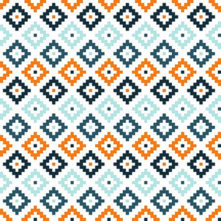 Orange and white kilim seamless pattern