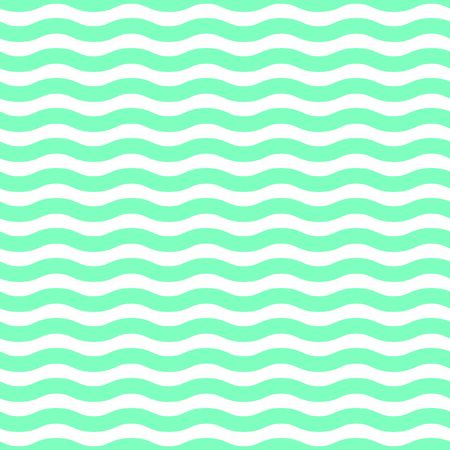 Blue and white waves seamless pattern