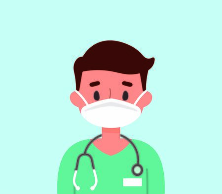 Male doctor wearing a mask